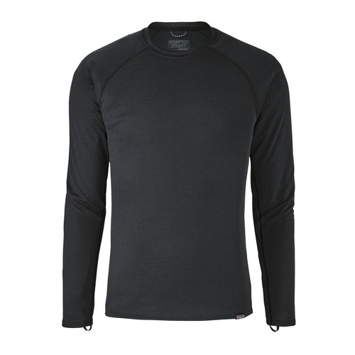 Patagonia Mens Capilene Midweight Crew Black - Extra Small