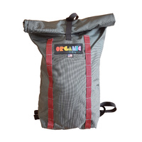 Organic Roll Pack - Charcoal Grey w Maroon Daisy