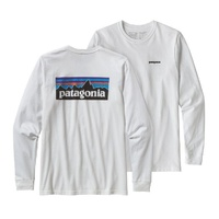 Patagonia Men's P-6 Logo Long Sleeve Responsibili-Tee® - White