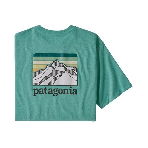 Patagonia Men's Line Logo Ridge Pocket Responsibili-Tee Light - Beryl Green